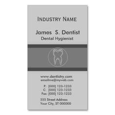 Modernist  Dentist Tooth Designs Business Cards