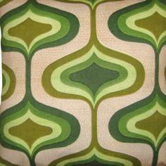 Vintage mid century green cushion - from emmalovesretro -