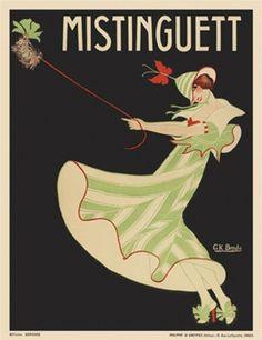 Mistinguett- French actress/singer. poster-circa 1913
