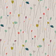 tiny long little flowers print & pattern