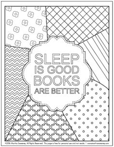 Free Adult Coloring Book Printable From Bookish By Martha Sweeney