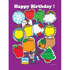 Carson Dellosa - Chartlet Happy Birthday 17 X 22 on sale now! Buy all of your teacher supplies at DK Classroom Outlet and save! Happy 17th Birthday, Happy Brithday, Birthday Charts, Carson Dellosa, Teacher Supplies, Classroom Setup, Your Teacher, Education, Printable Alphabet