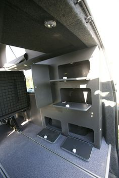 cool campervan and motor home conversions Vw Transporter Conversions, Vw Camper Conversions, Vw Transporter Camper, T5 Camper, Diy Van Conversions, Truck Bed Camper, Sprinter Camper, Camper Van Conversion Diy, Vw T5 Interior