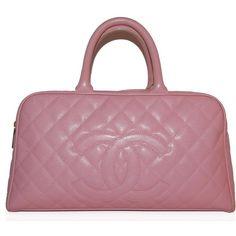 Chanel Pink Caviar Leather Bowler Bag