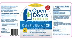 Daily Pro Blend 12B Nutrition Facts & Full Label - For a Better Look Visit Our Amazon Page - http://www.amazon.com/Daily-Blend-Probiotic-Supplement-Women/dp/B00JZOQ3XA/