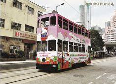 Why, hello, Hello Kitty. Double decker bus!?