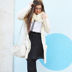 Secretos de Belleza con blusa de SPG Jenuan // Outfit of the Day ~ Black & White ~ Curvy woman #spgjenuan