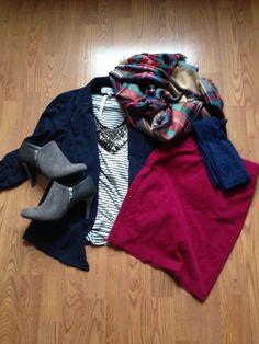 nordstrom rack top, forever 21 blazer, forever 21 skirt, target blanket scarf, payless booties