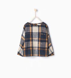 Image 1 of Large blouse with check print from Zara