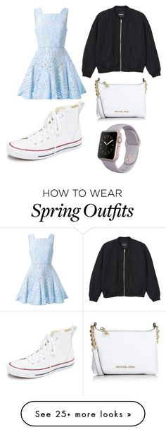 """just your average casual spring time outfit"" by livhaenel on Polyvore featuring moda, Alex Perry, Monki, Converse, Michael Kors, women's clothing, women, female, woman y misses"