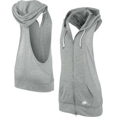 The Nike® Women's Three-D Sleeveless Hoodie is perfect for sweat sessions or post--workout lounging. I know it's for woman but sleeveless work for us guys to