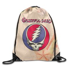 9f1bdbe4253 Amazon.com  Steal Your Face Live Album Grateful Dead Fashion Polyester  Drawstring Backpack Bag  Home   Kitchen