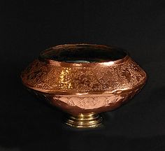 Kashmiri copper bowl