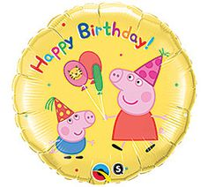 18 inches Peppa Pig Happy Birthday Foil Balloon
