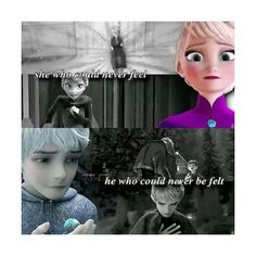 Jack Frost and Elsa Elsa Jack Frost ❤ liked on Polyvore featuring disney