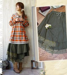 $47.09 ~ What pretty coord for the fall season! Reminds me of hayrides and pumpkin patches. <3