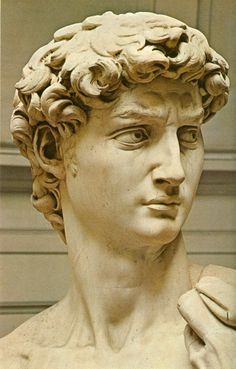 """Michelangelo's """"David"""" is one of the most recognized Renaissance statues. It was one of the first Renaissance sculptures to be made at such a large scale. Sculpture Head, Roman Sculpture, Sculptures, Statue Tattoo, Michelangelo Sculpture, Sculpture Romaine, Renaissance Kunst, Italian Renaissance, Art History"""