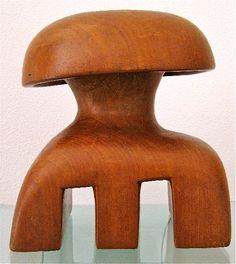 Untitled (abstract sculpture),1950 by Dutch artist Hans Ittmann (1914-1972). Wood, 20 x 14 x 17 cm. via Klasema Art