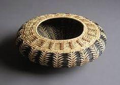 pine needle basket, beautiful pattern