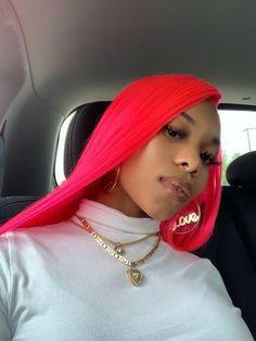 KHAYANDERSON Remy Human Hair, Human Hair Wigs, Green Hair, Pink Hair, Curly Hair Styles, Natural Hair Styles, Vibrant Hair Colors, Colorful Hair, Peinados Pin Up