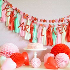 Kids Valentine's Day Party Table - too sweet!