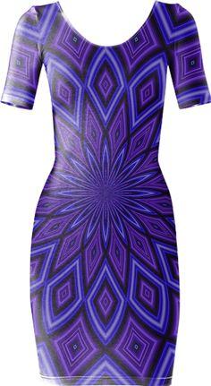 Purple Geo Bodycon Dress