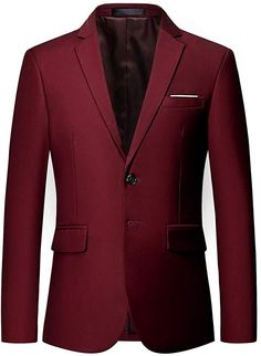MOGU Mens Suit Jacket Slim Fit Single Breasted Two Button 10 Colors at Amazon Men's Clothing store