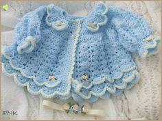 Crochet Baby Sweaters, Crochet Baby Dress Pattern, Crochet Baby Cardigan, Baby Girl Sweaters, Crochet Coat, Baby Girl Crochet, Crochet Baby Clothes, Baby Kids Clothes, Baby Sweater Patterns