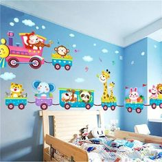 3D Wall Sticker Wolf Poster Decay Poster Peel and Stick Giant Wall Decal Removable Wall Decals Art for Kids Room