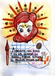 Ojos color sol @Carl Jonas Sjonander 13 PR Illustration by Guadalupe Ferrante, via Behance