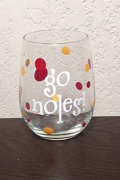 FSU Wine Glass - 'Go Noles!'