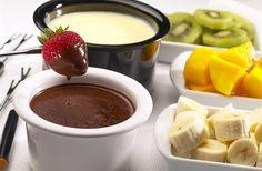 Fondue de Chocolate Branco e Preto