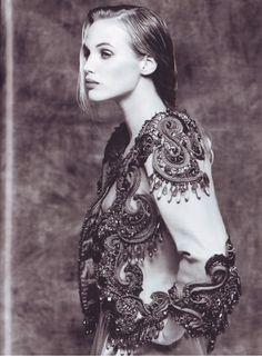 1989: Yves Saint Laurent couture bolero, photographed by Bettina Rheims.