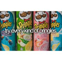 Who remembers going through all the different types of Pringles during lunch?