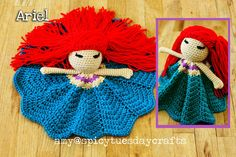 Ariel Princess Lovey FREE Crochet Pattern