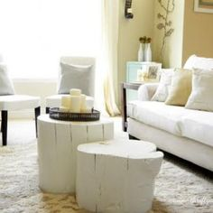 ===  i have the perfect tree stumps to do this.  woot woot.  love it.  Coffee table from a tree stump