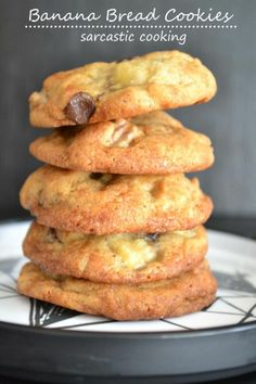 Banana Bread Cookies. This would be a HUGE hit at the office.