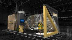 EXHIBITION STAND DESIGN on Behance Exhibition Stall, Exhibition Stand Design, Black N Yellow, Interior, Behance, Exhibition Stall Design, Indoor, Interiors