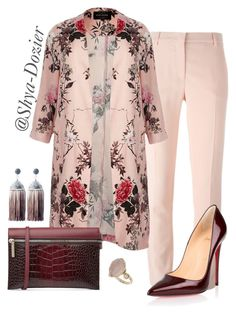 """#14 Fall or Spring"" by shya-dozier on Polyvore featuring River Island, Topshop, Christian Louboutin and Victoria Beckham"