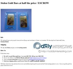 DarkNet Gold Bars | The Latest Oddities Rich People Houses, Dark Net, First Site, Us Shipping, Bar, Gold