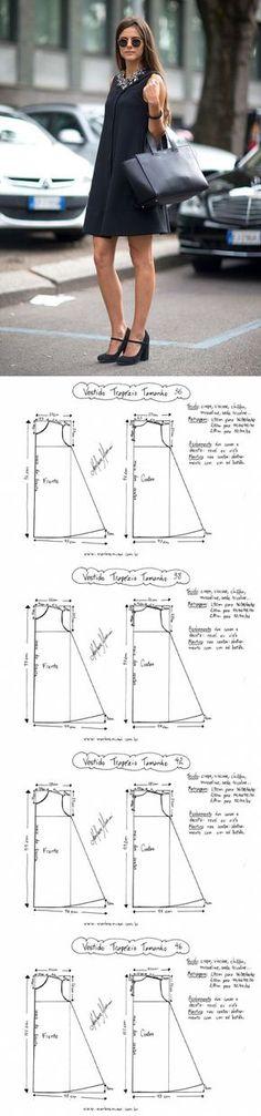 El patrón rápido del vestido de la A-silueta