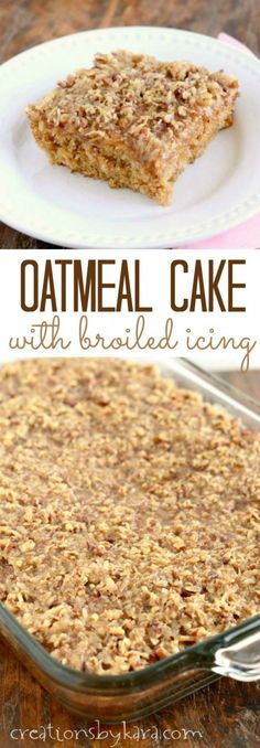 Oatmeal Cake with br