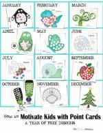How to Motivate Kids with Point Cards {Free Printable}