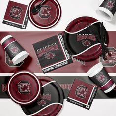 University of South Carolina Game Day Party Supplies Kit, Multicolor