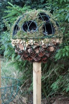 'Bug Ball Topiary Tree' for insects to set up house in the garden (from Wildlife Gadgetman)