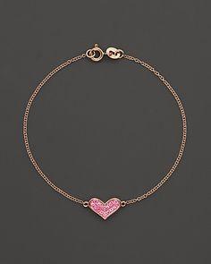 Dana Rebecca Designs Pink Sapphire Jacquie C Bracelet in 14K Rose Gold | Bloomingdale's