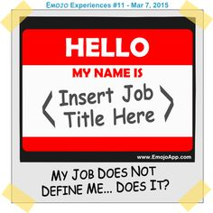 Have you ever felt like your job is the only way people understand you? I try to tell myself that my job does not define me, but it's a constant struggle. Share My Life, Hello My Name Is, Job Title, Have You Ever, My Job, I Tried, To Tell, Like You, Names