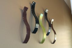 Fused Glass Wall Art / Sculpture Waves Set of 5 by JMFusions, $275.00