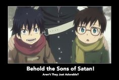 satan makes some cute children... #blueexorcist