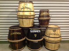 Small barrels by RKD Floral Displays Barrels, Guinness, Man Cave, Jar, Display, Floral, Home Decor, Floor Space, Decoration Home